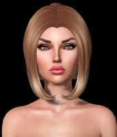 Inez Mesh Hair DAE OBJ
