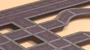 3d model road urban