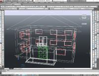 house scene 3d dwg