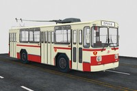 3d ziu-11 trolleybus model