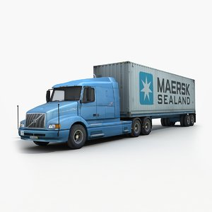 3d container truck