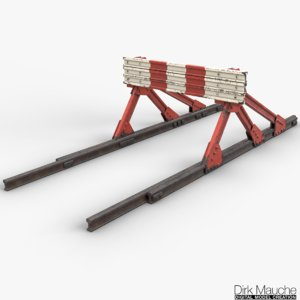 3d model railroad buffer