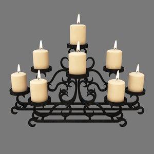 3d model candelabrum fireplace