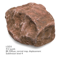 Rock with 4 LODs (#01)