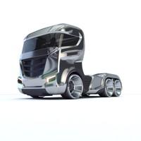 Truck Future Concept 3d model Vray/Corona