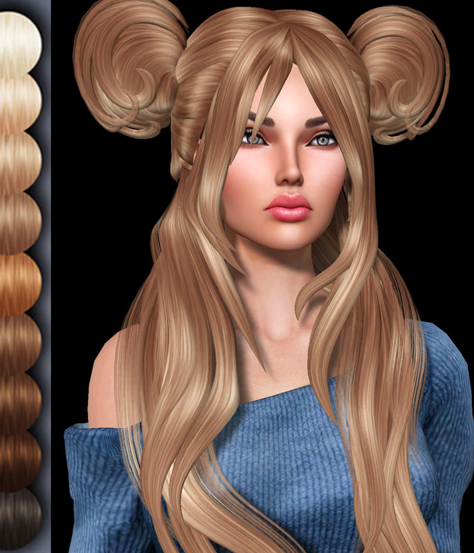 hairstyle 2 3d 3ds