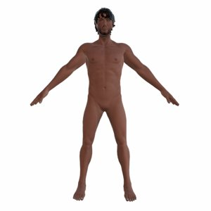 3d ready scruffy male character