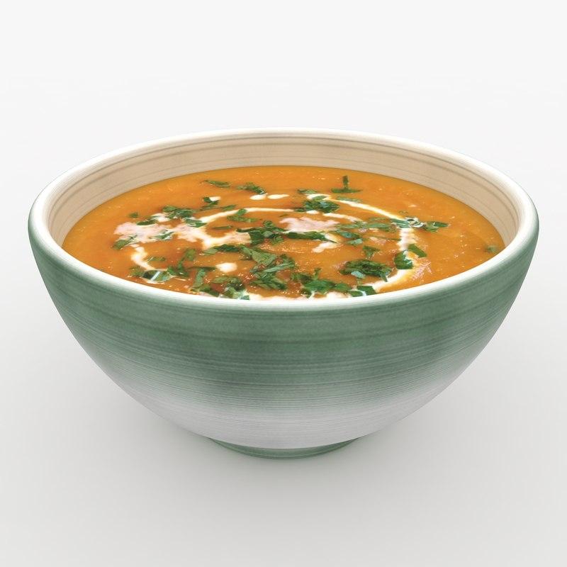 3d realistic soup 2 model