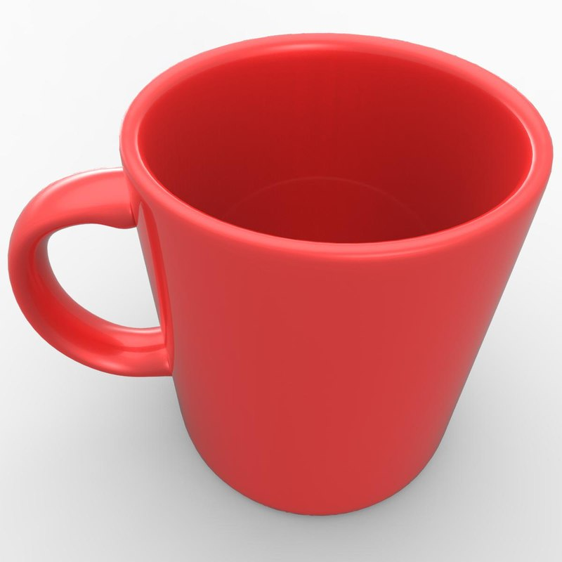 coffee cup 3d obj