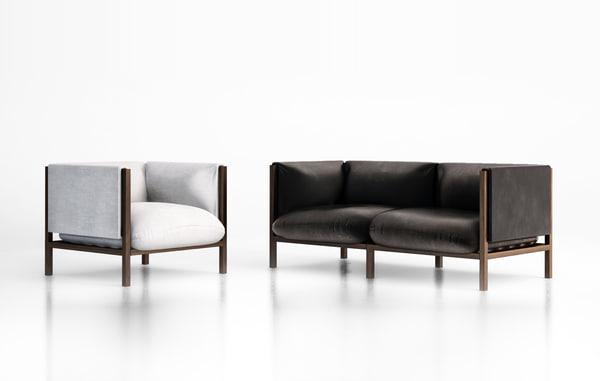 loom armchair sofa 3d model