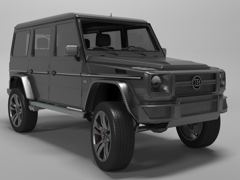 3d suv gelandewagen model