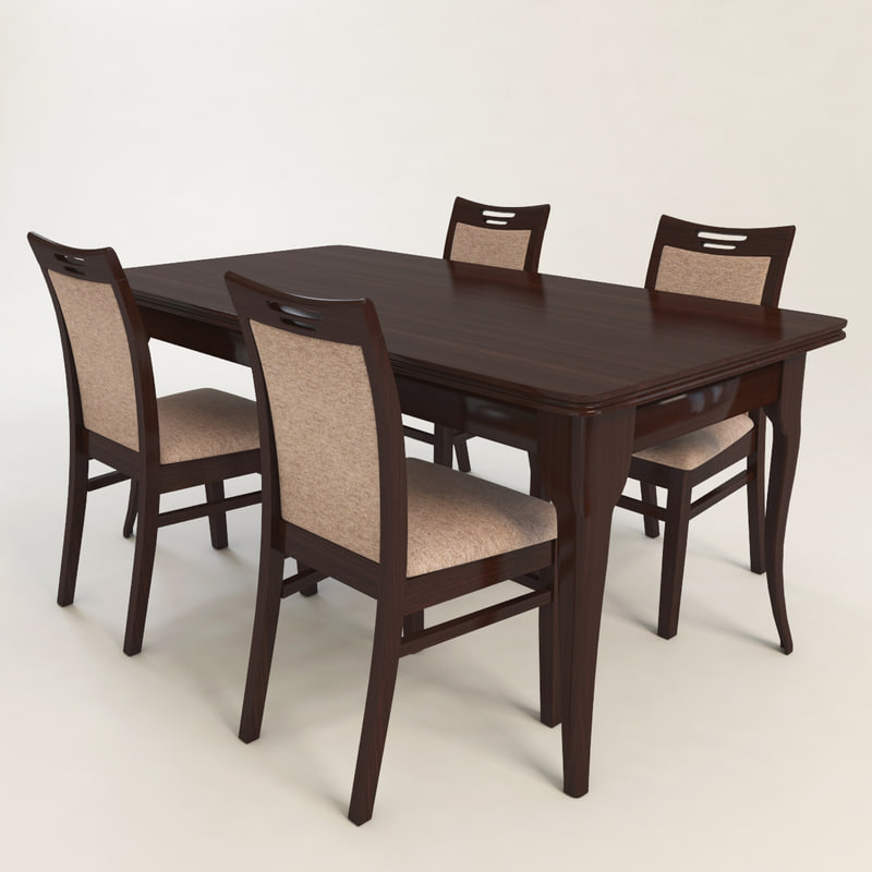 3d table chair dining