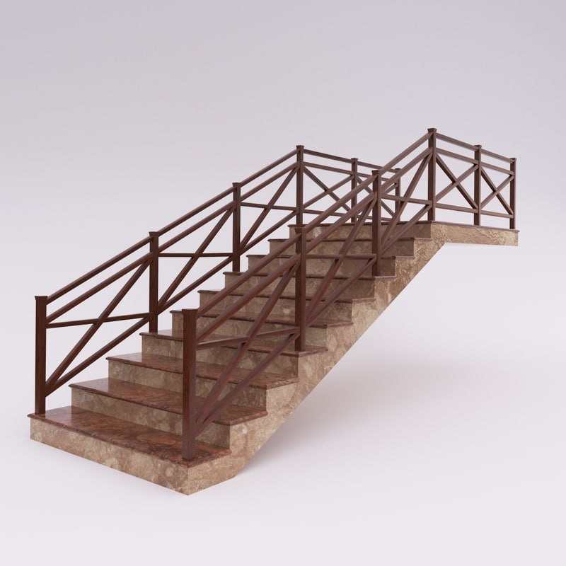 stair 3d max