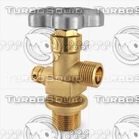 3d model valve gas