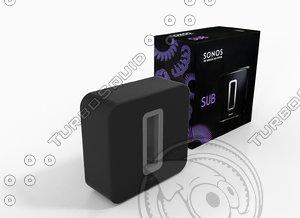 sonos sub 3d model
