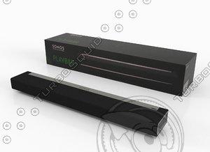 3d model of sonos soundbar