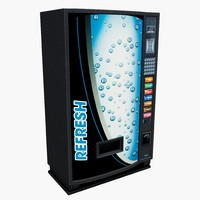 generic drinks vending machine 3d model