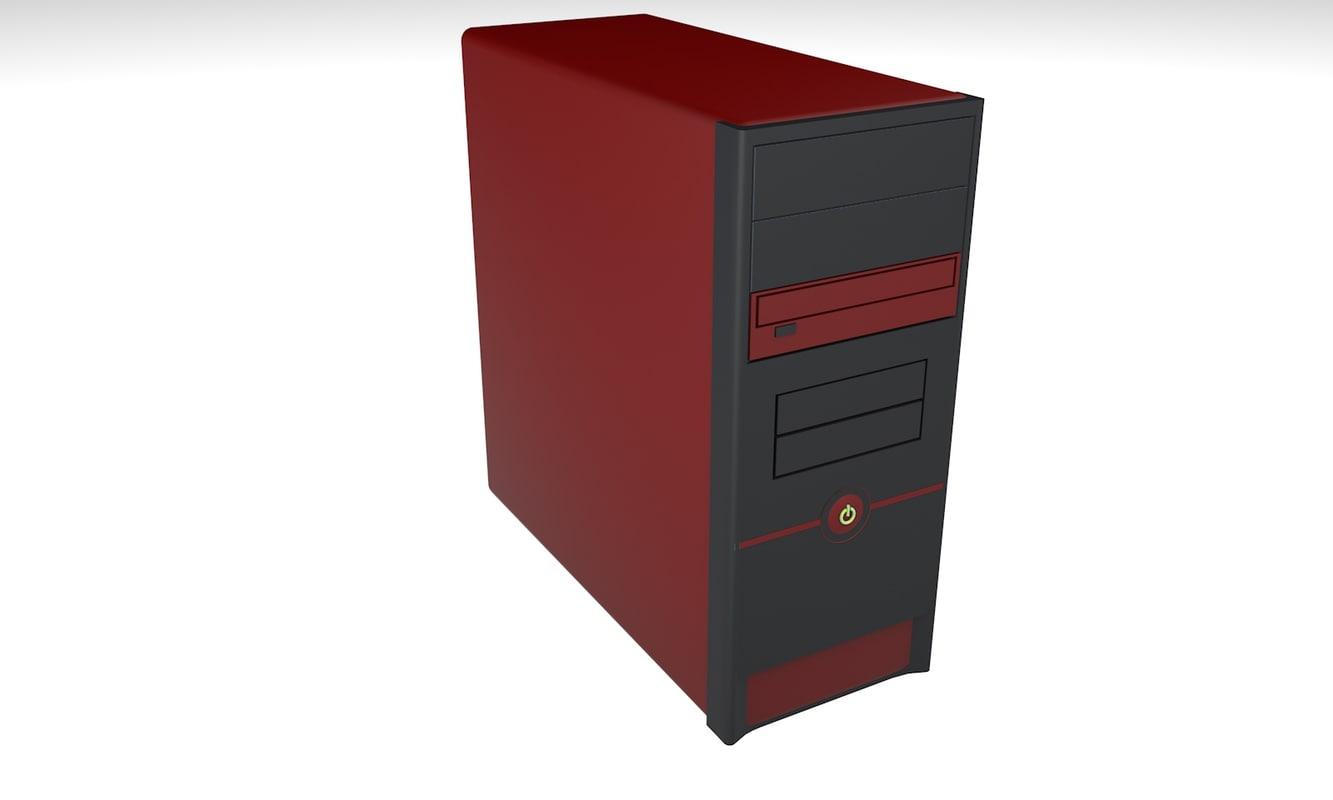 pc desktop case 3d c4d