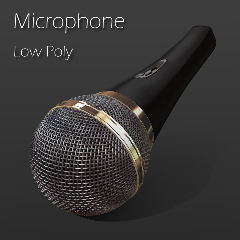 wireless microphone wire obj
