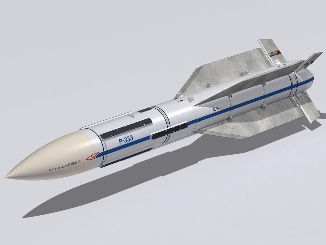 3d model r-33 missile
