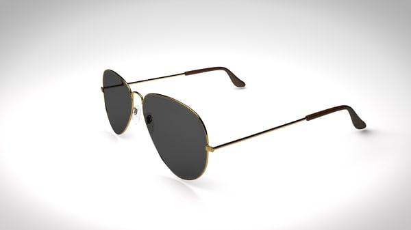 3d aviator sunglasses model