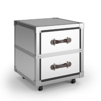 3d model 2-drawer gage rolling chest