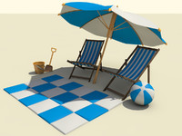 beach sets 3d 3ds