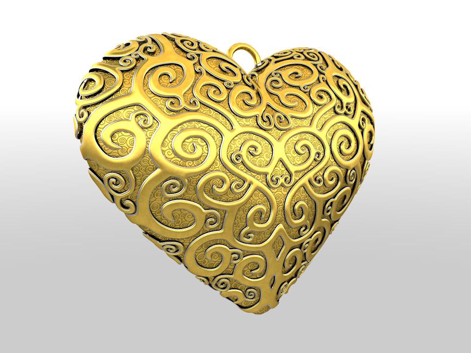 filigree heart 3d model