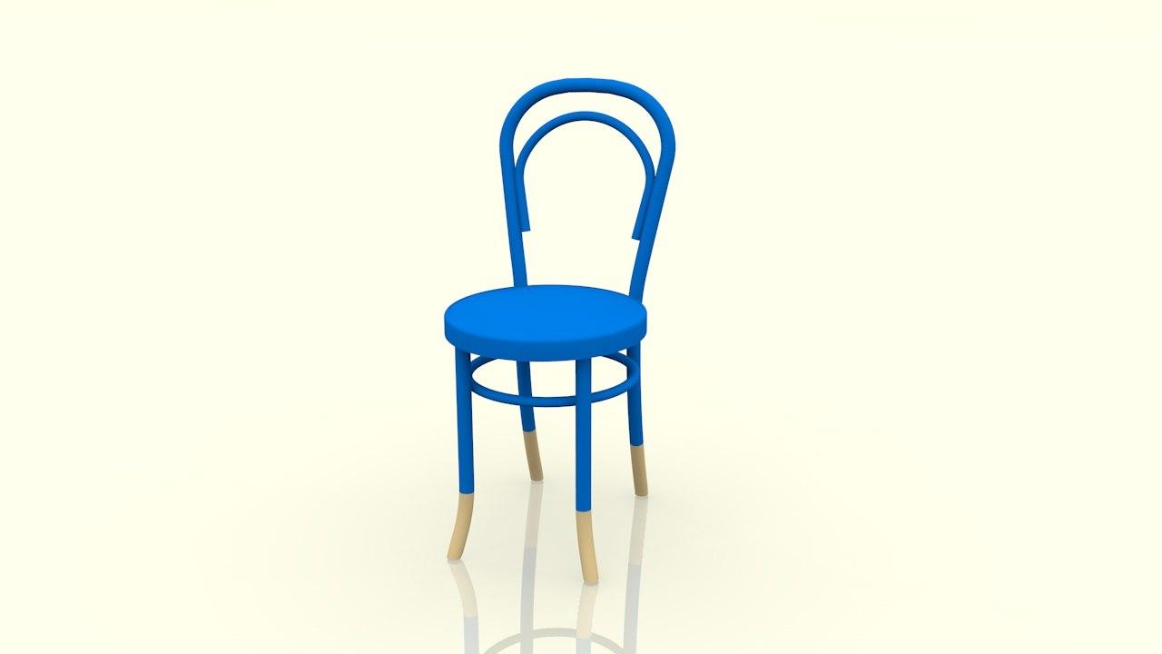 3d model thonet chair 14