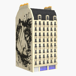 3d parisian building model