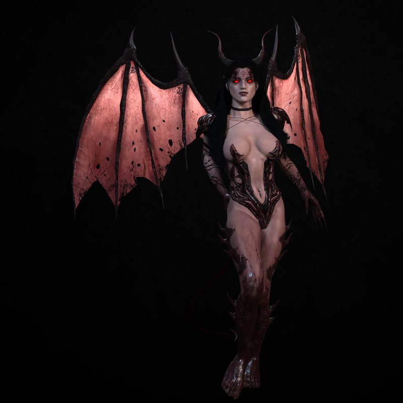 3d succubus rigged model
