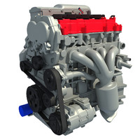 3d car engine