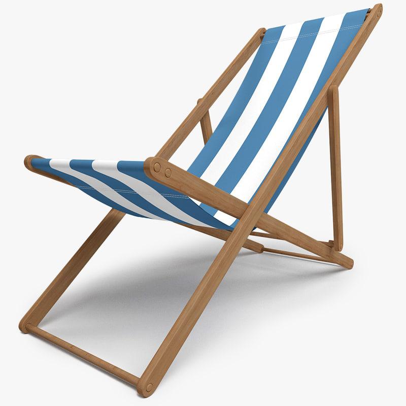 c4d beach chair