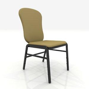 hotel ballroom chair 3d 3ds
