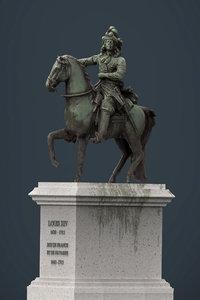 3d statue xiv model