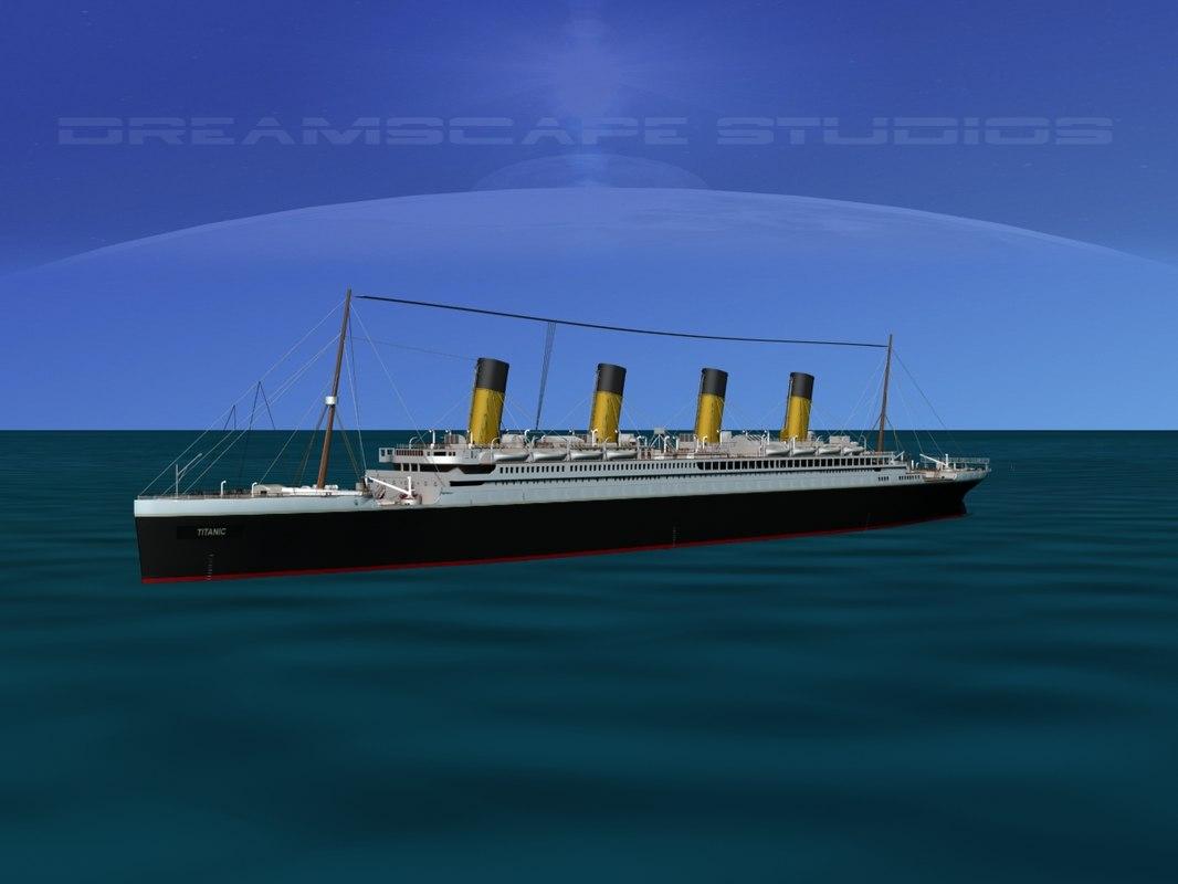3d modeled rms titanic