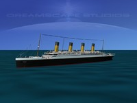 3d modeled rms titanic