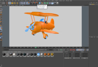 3d model airplane cartoon