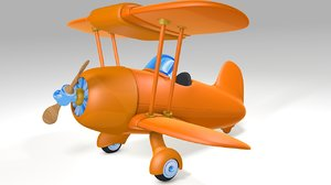 3d airplane cartoon