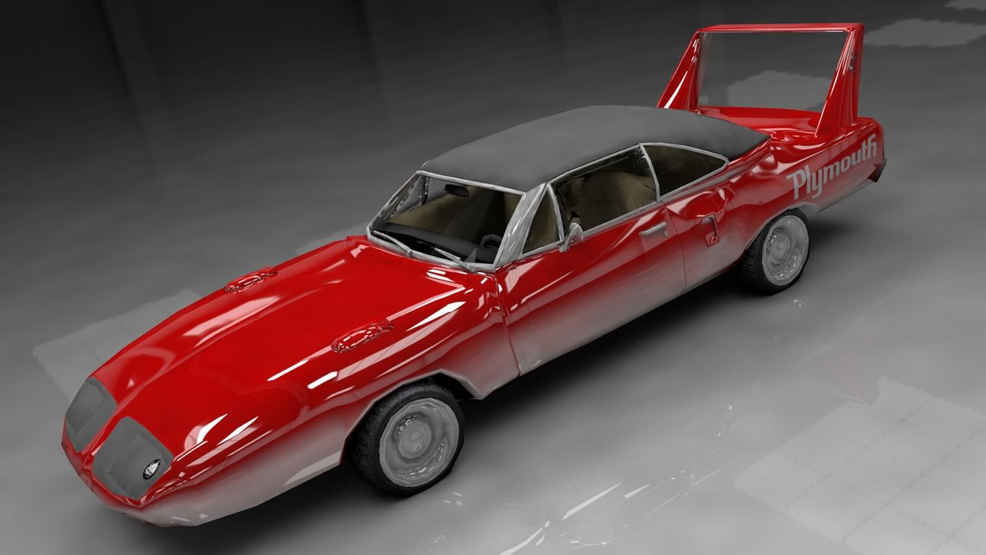1970 plymouth superbird 3d model