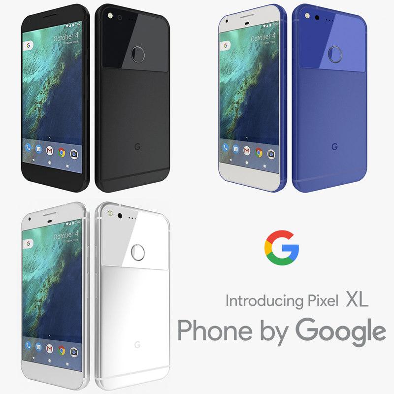 google pixel xl colors 3d model