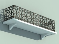 architectural balcony 3d model