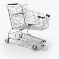 wire shopping cart 3d model