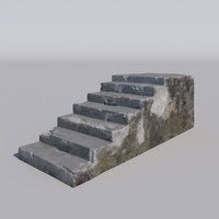 obj stairs concrete damaged