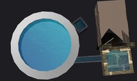 3d model pool water