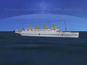 ship hmhs britannic 3d model