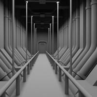sci-fi interior fbx