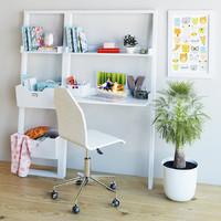 3d model childroom decorative set