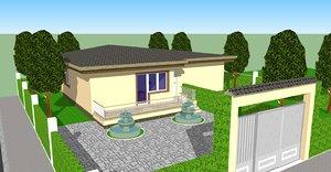 american modern house interior 3d 3ds