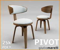 3d modern chair pivot - model